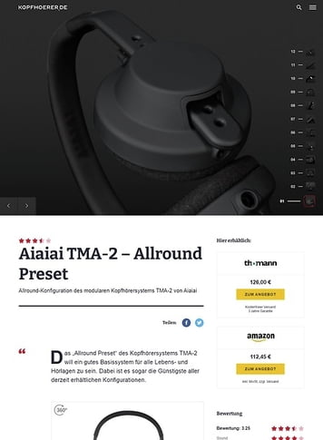 Kopfhoerer.de Aiaiai TMA-2 Modular All-Round Preset
