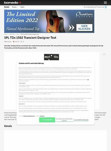 Bonedo.de SPL TDx 1502 Transient Designer