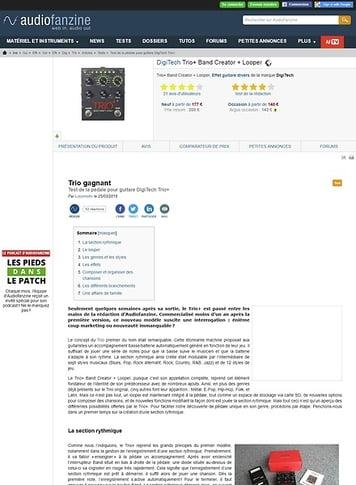Audiofanzine.com DigiTech Trio+ Band Creator + Looper
