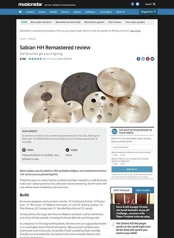 MusicRadar.com Sabian HH Remastered