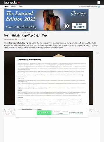 Bonedo.de Meinl Hybrid Slap-Top Cajon