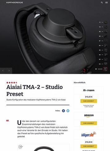 Kopfhoerer.de Aiaiai TMA-2 Modular Studio Preset