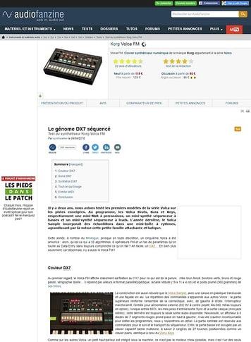 Audiofanzine.com Korg Volca FM