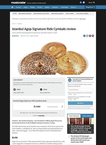 MusicRadar.com Istanbul Agop Signature Ride Cymbals