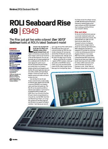 Future Music ROLI Seaboard Rise 49