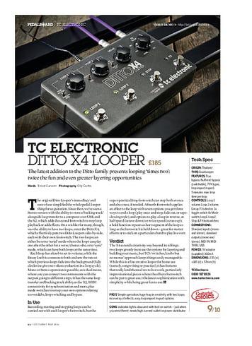 Guitarist TC Electronic Ditto X4 Looper