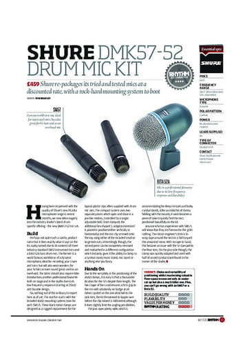 Rhythm Shure DMK57 52 Drum Mic Kit