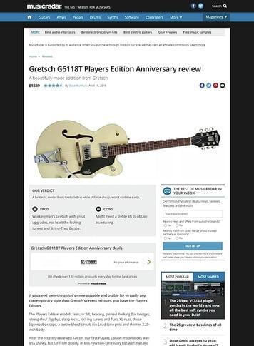 MusicRadar.com Gretsch G6118T Players Edition Anniversary