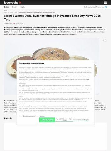 Bonedo.de Meinl Byzance Jazz, Byzance Vintage & Byzance Extra Dry News 2016 Test