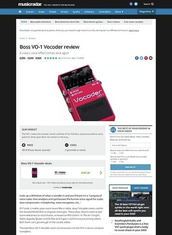 Boss VO-1 Vocoder – Thomann UK