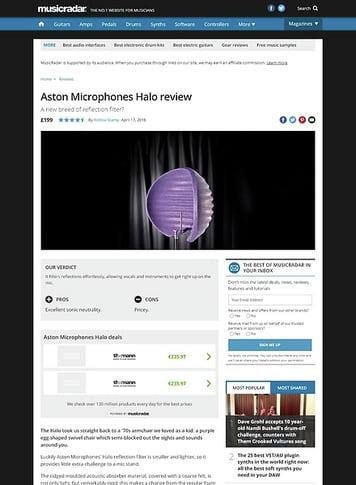 MusicRadar.com Aston Microphones Halo