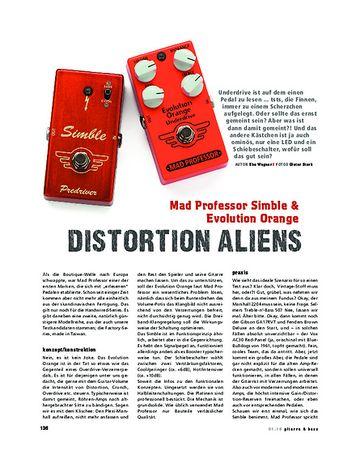 Gitarre & Bass Mad Professor Simble & Evolution Orange, Overdrive-Pedale