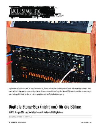 Sound & Recording MOTU Stage-B16 - Audio-Interface mit Netzwerkfähigkeiten