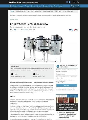 MusicRadar.com LP Raw Series Percussion