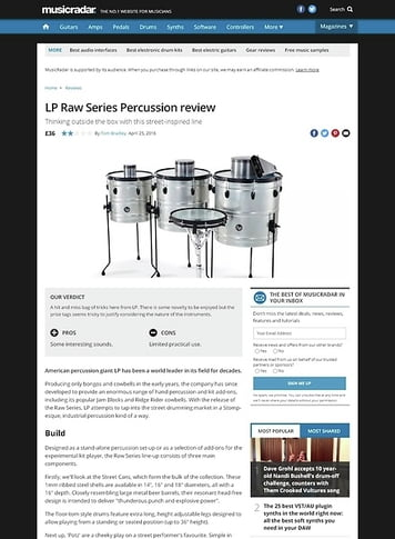 MusicRadar.com LP Raw Series Percussion