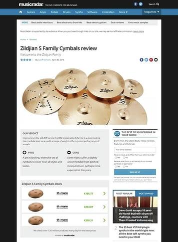 MusicRadar.com Zildjian S Family Cymbals