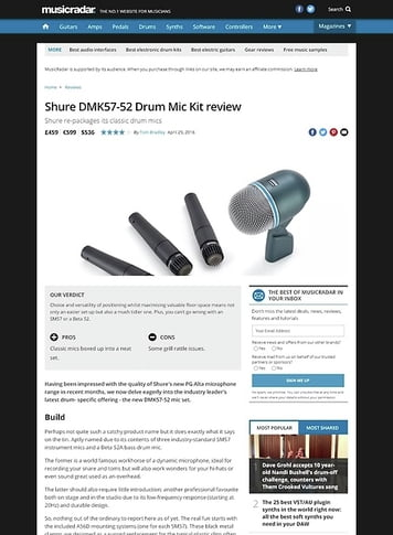 MusicRadar.com Shure DMK57-52 Drum Mic Kit