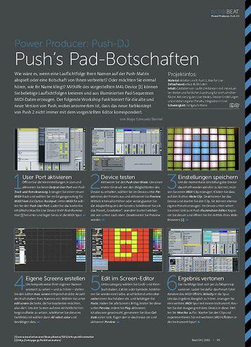 Beat Power Producer: Push's Pad-Botschaften