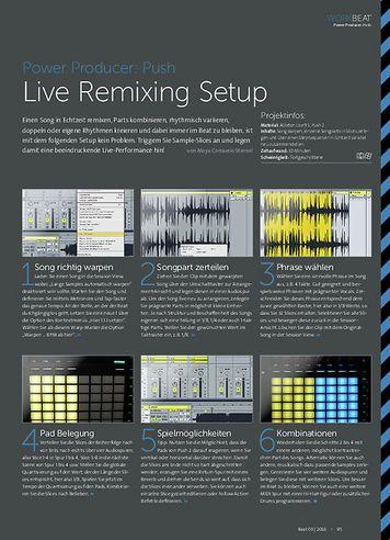 Beat Power Producer: Live Remixing Setup