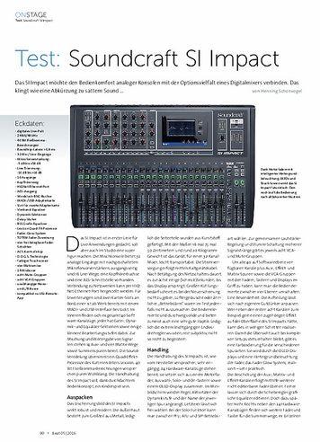 Beat Soundcraft SI Impact