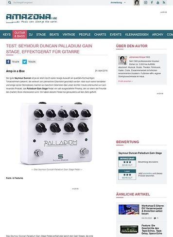 Amazona.de Test: Seymour Duncan Palladium Gain Stage, Effektgerät für Gitarre