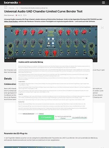 Bonedo.de Universal Audio UAD Chandler Limited Curve Bender