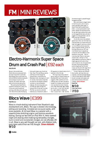 Future Music Electro-Harmonix Crash Pad & Super Space Drum