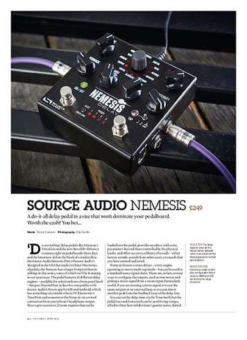 Guitarist Source Audio Nemesis