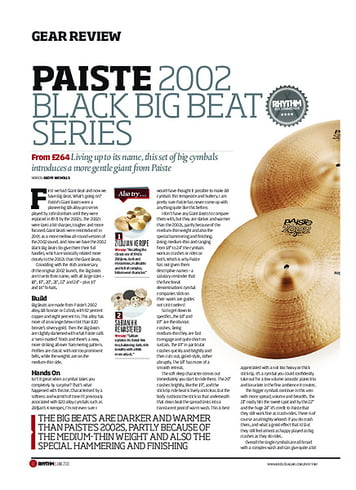 Rhythm Paiste 2002 Black Big Beat Series