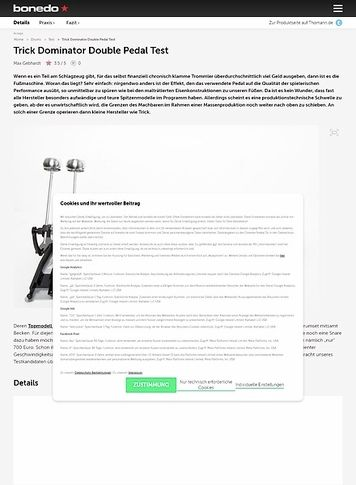 trick drums dominator double pedal musikhaus thomann. Black Bedroom Furniture Sets. Home Design Ideas