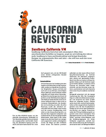 Gitarre & Bass Sandberg California VM, E-Bass