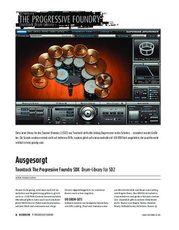 Sound & Recording Toontrack The Progressive Foundry SDX - Drum-Library für SD2