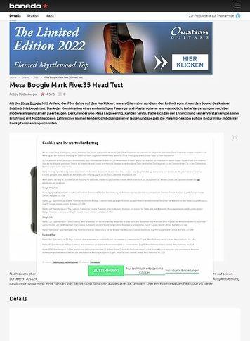 Bonedo.de Mesa Boogie Mark Five:35 Head