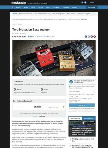 MusicRadar.com Two Notes Le Bass