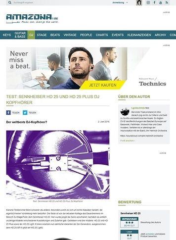 Amazona.de Test: Sennheiser HD 25 und HD25 Plus, DJ Kopfhörer