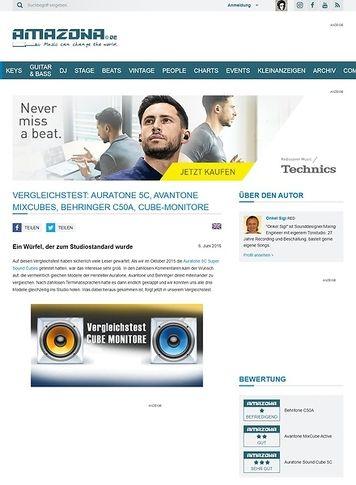 Amazona.de Vergleichstest: Auratone 5C, Avantone MixCubes, Behringer C50A, Cube-Monitore