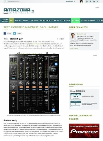 Amazona.de Test: Pioneer DJM-900NXS2, DJ-Club-Mixer