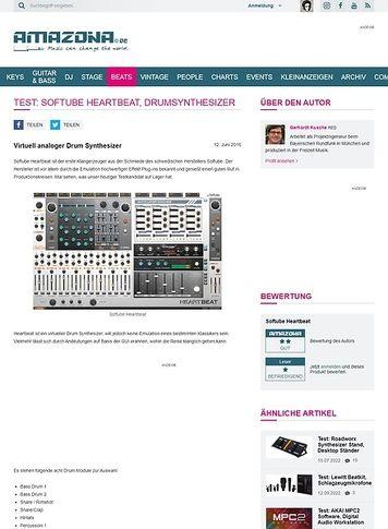 Amazona.de Test: Softube Heartbeat, Drumsynthesizer
