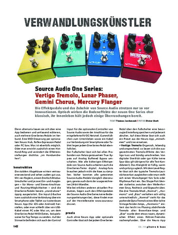 Gitarre & Bass Source Audio One Series, FX-Pedale