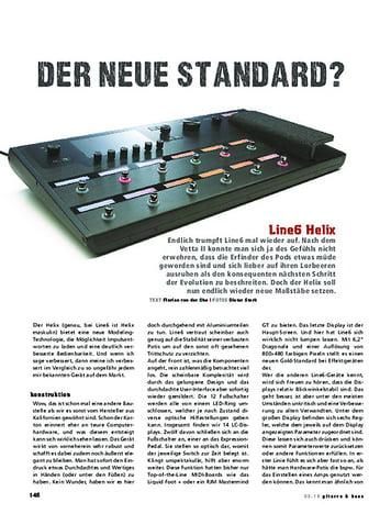 Gitarre & Bass Line6 Helix, Modeling/Preamp/FX