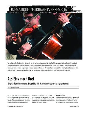 Sound & Recording Cinematique Instruments Ensemblia 1.5 - Kammerorchester-Library für Kontakt