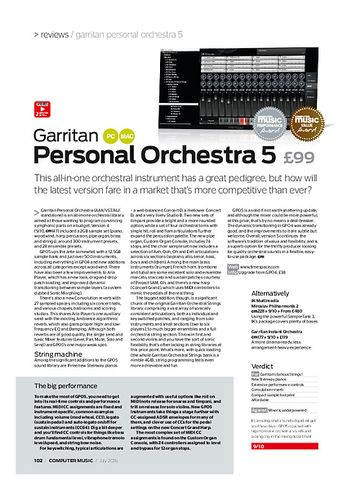 Computer Music Garritan Personal Orchestra 5