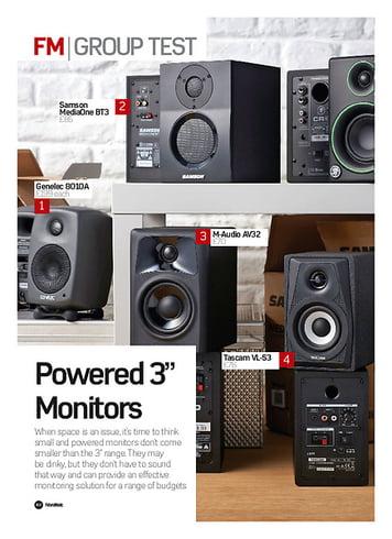 Future Music Genelec 8010A, Samson MediaOne BT3, M-Audio AV32, Tascam VL-S3, Mackie Creative Reference CR3, Eve Audio SC203