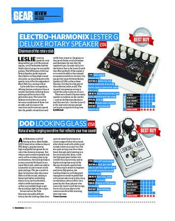 Total Guitar Electro-Harmonix Lester G Deluxe Rotary Speaker