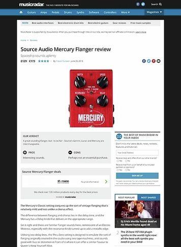 MusicRadar.com Source Audio Mercury Flanger