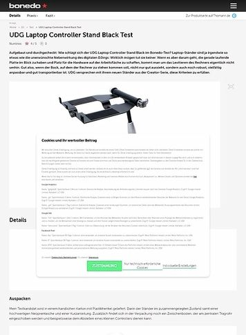 Bonedo.de UDG Laptop Controller Stand Black