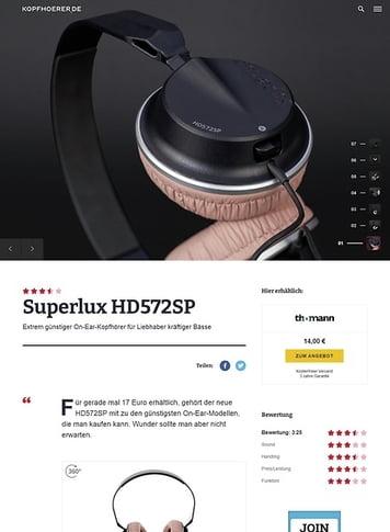 Kopfhoerer.de Superlux HD 572 SP Black