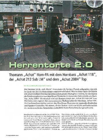 Tools4Music Herrentorte 2.0 - Thomann Achat 118, Achat 212 Sub LM und Achat 208H