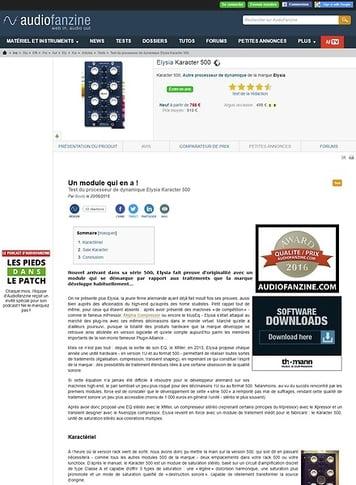 Audiofanzine.com Elysia Karacter 500