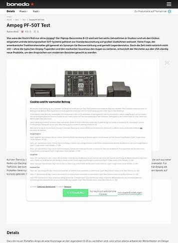 Bonedo.de Ampeg PF-50T